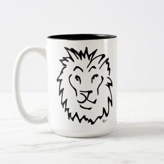 Caneca De Café Em Dois Tons Adolf Lorenzo - leão