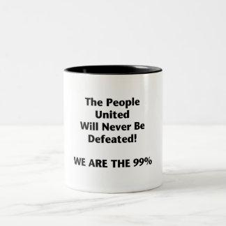 Caneca De Café Em Dois Tons As pessoas do Th unidas serão derrotadas nunca