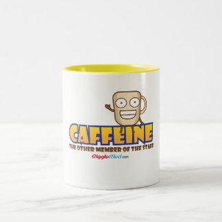 Caneca De Café Em Dois Tons Cafeína, o outro membro dos funcionarios