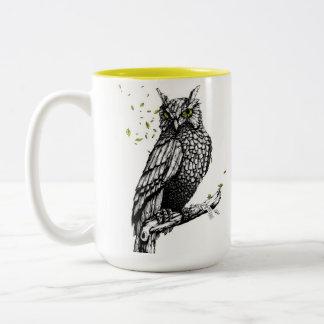 Caneca De Café Em Dois Tons Canela Owl
