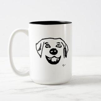 Caneca De Café Em Dois Tons Cão - Adolf Lorenzo