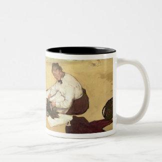 Caneca De Café Em Dois Tons Cena da praia de Edgar Degas |