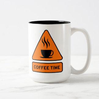 Caneca De Café Em Dois Tons Coffee Time Hazard 15oz Mug