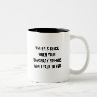 Caneca De Café Em Dois Tons Copo de café do bloco dos escritores