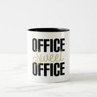 """Caneca De Café Em Dois Tons Do """"caneca do escritório doce escritório"""" para o"""