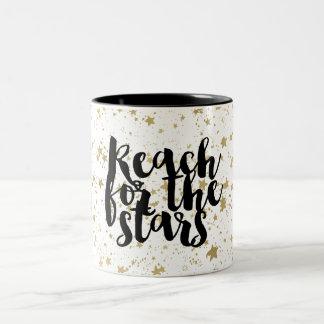 Caneca De Café Em Dois Tons Estrelas Sparkling do ouro