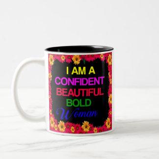 Caneca De Café Em Dois Tons Eu sou mulher