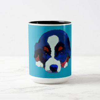 Caneca De Café Em Dois Tons Filhote de cachorro