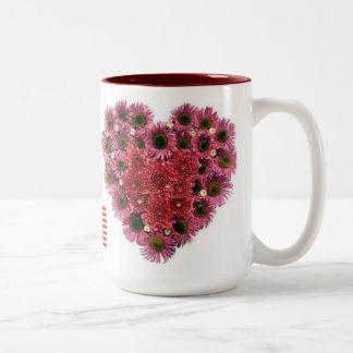 Caneca De Café Em Dois Tons Flores