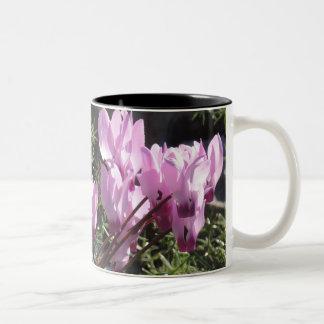 Caneca De Café Em Dois Tons Flores selvagens