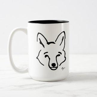 Caneca De Café Em Dois Tons Fox - Adolf Lorenzo
