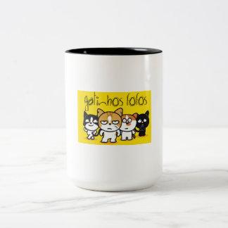 Caneca De Café Em Dois Tons Gatinhos Fofos