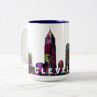 Caneca De Café Em Dois Tons Grafites de Cleveland