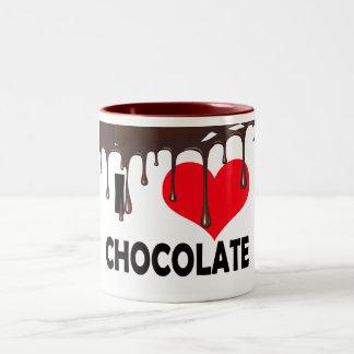CANECA DE CAFÉ EM DOIS TONS I LOVE CHOCOLATE
