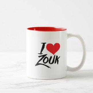 Caneca De Café Em Dois Tons I love Zouk