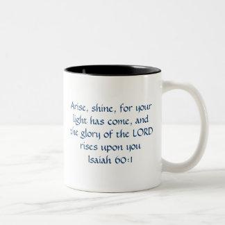 Caneca De Café Em Dois Tons Levanta-se o brilho - 60:1 de Isaiah