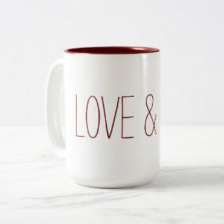 Caneca De Café Em Dois Tons Love & Leve