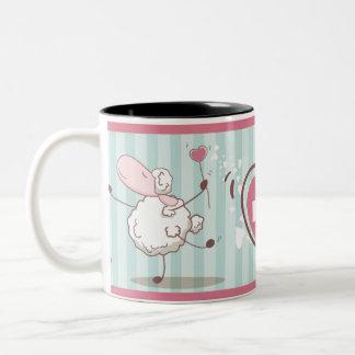 Caneca De Café Em Dois Tons Love Sheep