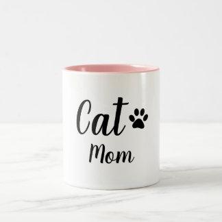 CANECA DE CAFÉ EM DOIS TONS MAMÃ DO CAT DO CHIQUE MUG_