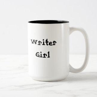 Caneca De Café Em Dois Tons Menina do escritor