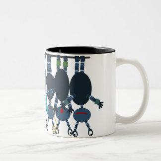 Caneca De Café Em Dois Tons O berço de Newton dos aliens
