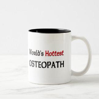 Caneca De Café Em Dois Tons O osteopata o mais quente dos mundos