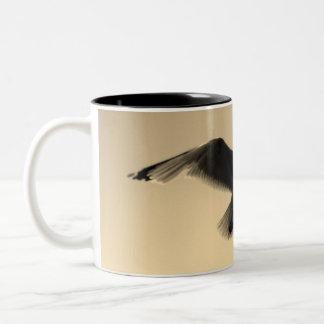 Caneca De Café Em Dois Tons Os pássaros