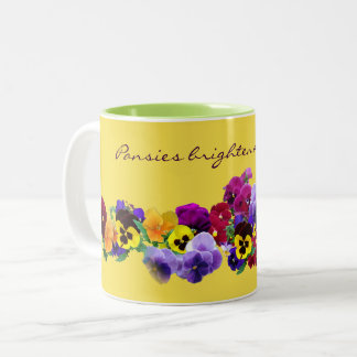 Caneca De Café Em Dois Tons pansy16v1