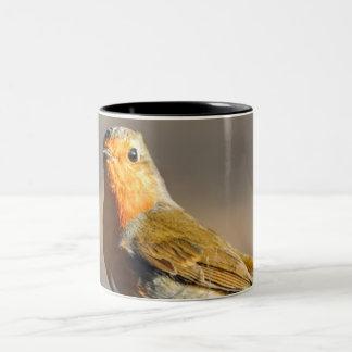 Caneca De Café Em Dois Tons Pássaro