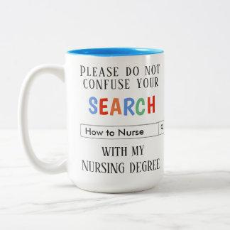 Caneca De Café Em Dois Tons Presente feito sob encomenda para enfermeiras