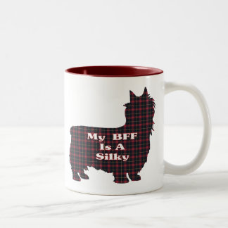 Caneca De Café Em Dois Tons Presentes de Terrier de seda BFF
