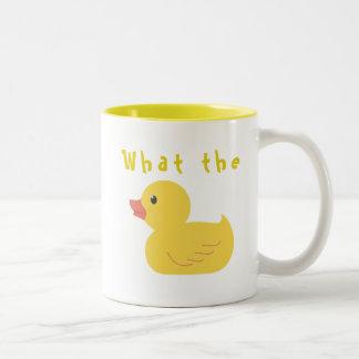 Caneca De Café Em Dois Tons Que o pato?