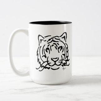 Caneca De Café Em Dois Tons Tigre - Adolf Lorenzo
