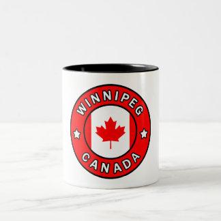 Caneca De Café Em Dois Tons Winnipeg Canadá