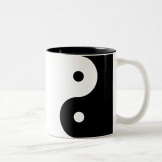 Caneca De Café Em Dois Tons Yin-Yang