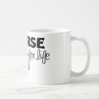 Caneca De Café Enfermeira para a vida