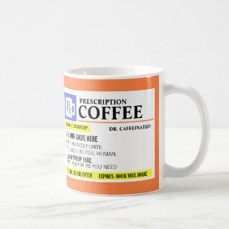 Caneca de café engraçada da prescrição