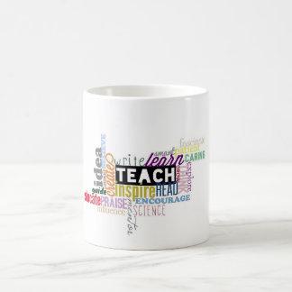 Caneca De Café Ensine. Aprenda. Cresça