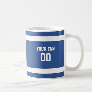 Caneca De Café Equipa de futebol azul & branca profunda