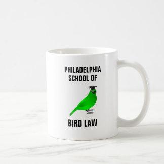 Caneca De Café Escola de Philadelphfia da lei do pássaro