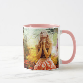 Caneca de café espiritual Mystical Praying do anjo