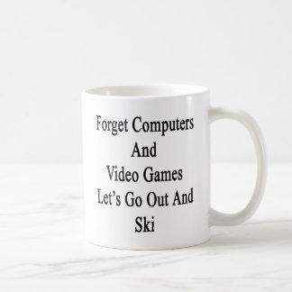 Caneca De Café Esqueça que os computadores e o video games nos