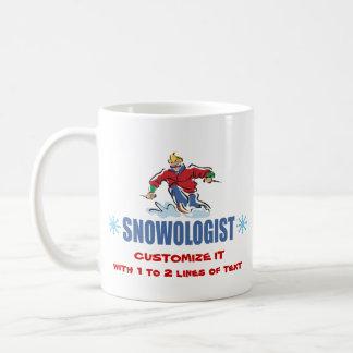 Caneca De Café Esqui personalizado da neve