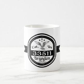 Caneca De Café Estabelecido em 33511 Brandon