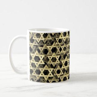 Caneca De Café Estrela de David dourada