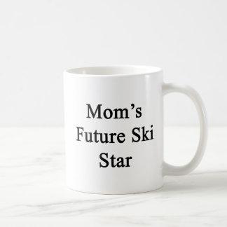 Caneca De Café Estrela futura do esqui da mãe