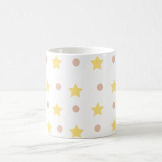 Caneca De Café estrelas e pontos