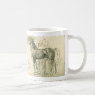 Caneca De Café Estudo de um cavalo por Edgar Degas, belas artes