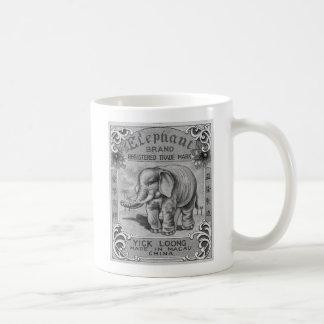 Caneca De Café Etiqueta do foguete da marca do elefante do
