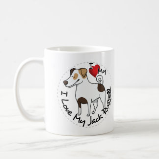 Caneca De Café Eu amo meu cão de Jack Russell